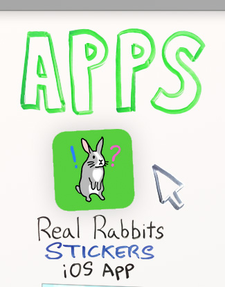 Real Rabbits Stickers iOS App